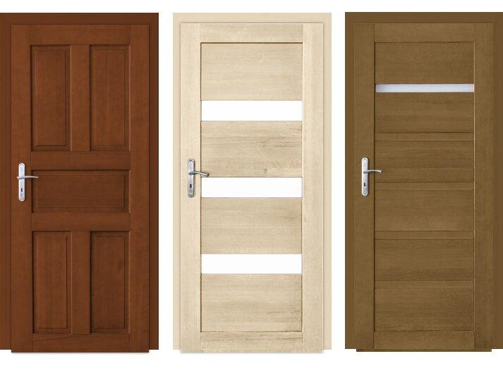 Drzwi z drewna